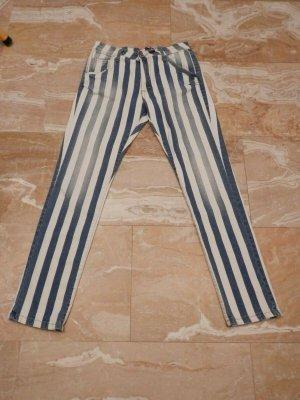Please Boyfriend Jeans white-blue mixture fibre