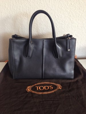 Seltene Tod's D-Bag 2 way  Zipper anthrazit