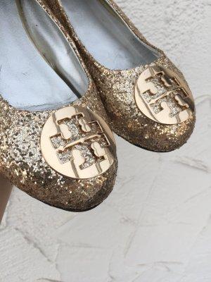 SELTENE TORY BURCH BALLERINAS *gold-glitter*