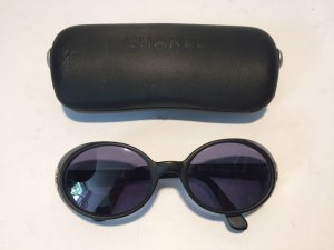 Chanel Round Sunglasses black synthetic material