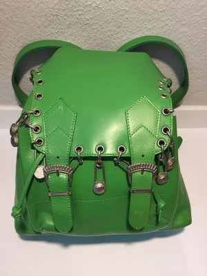 Gianni Versace Backpack green leather