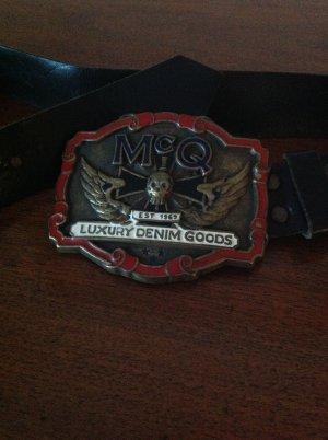 Alexander McQueen Leather Belt black leather
