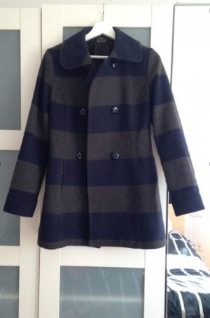 Zara Trafaluc Short Coat dark blue-grey