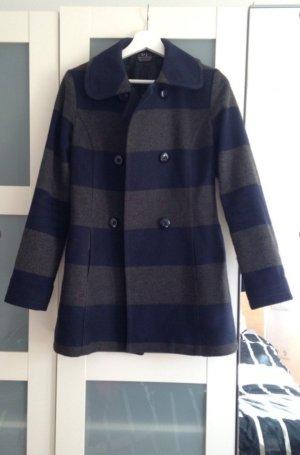 Zara Trafaluc Abrigo corto azul oscuro-gris