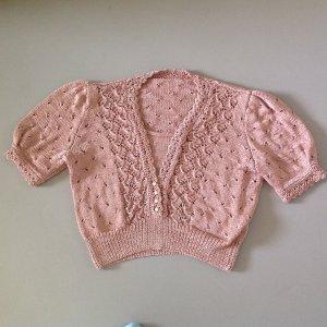 Sweater met korte mouwen nude Textielvezel