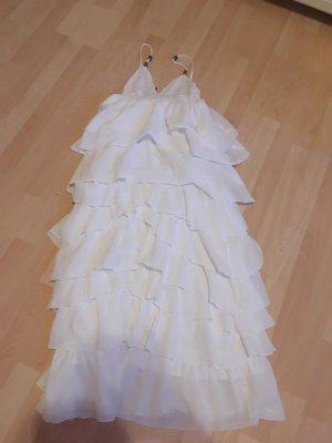 Seltenes Volant Kleid weiß