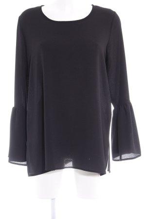 Sem per lei Langarm-Bluse schwarz Casual-Look
