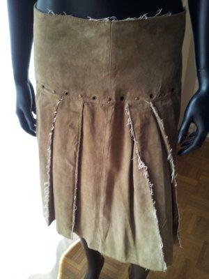 Falda de cuero multicolor Gamuza