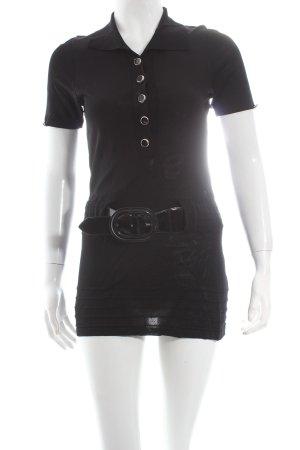 Sem per lei Strickshirt schwarz schlichter Stil