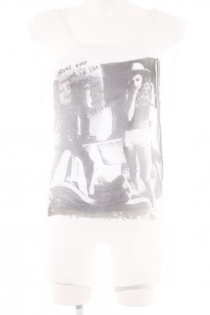 Sem per lei T-Shirt weiß-schwarz platzierter Druck Casual-Look