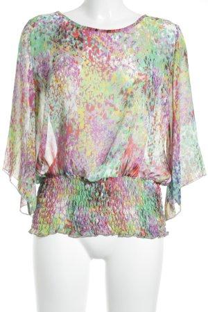 Sem per lei Transparenz-Bluse mehrfarbig