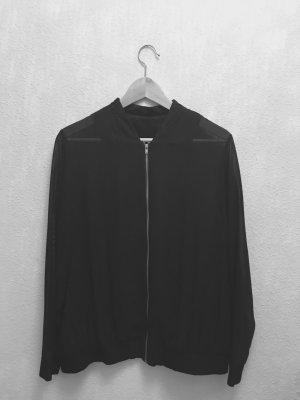 Semi-Transparente Bomberjacke schwarz