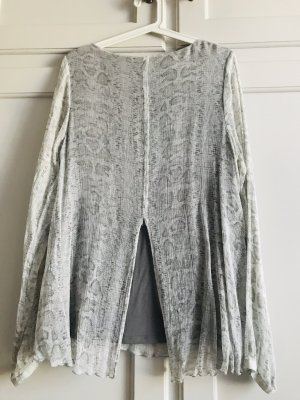 Semi-Transparente Seidenbluse/Shirt im Lagen-Look Gr. 44