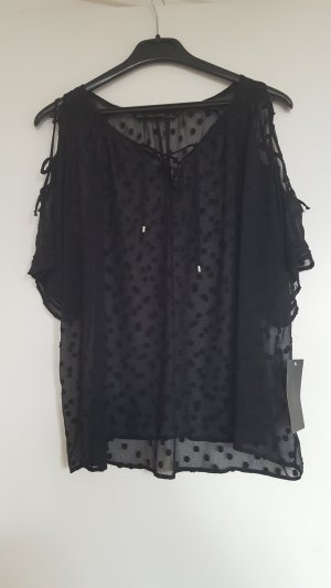 Semi-transparentes Zara Shirt mit Schulter Cutouts