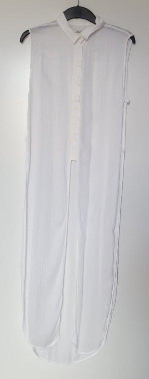 semitransparente lange Zara Blusenweste