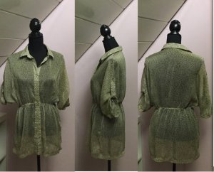 Semitransparentes gemustertes Blusenkleid