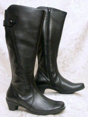 Semler Leder Stiefel Größe 2,5 oder 35 Schwarz