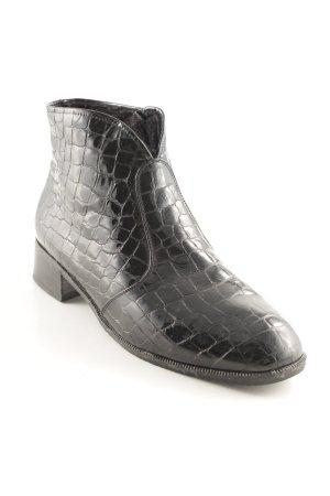 Semler Reißverschluss-Stiefeletten schwarz Animal-Look