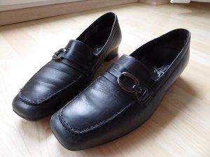Semler, schwarzer Lederschuh, Größe 40 (6.5)