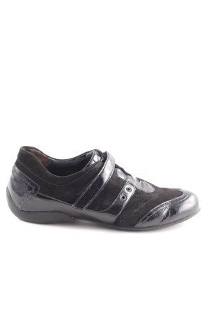 Semler Zapatillas con velcro negro look efecto mojado