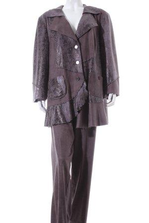Sempre Piu Kostüm graubraun Leder-Optik