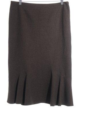 SEMPRE Wool Skirt black brown casual look