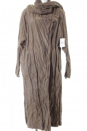 senas Manteau long brun style décontracté