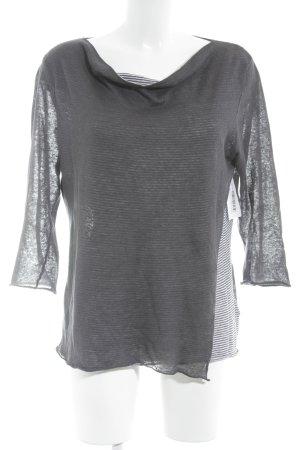 senas Longsleeve dunkelgrau-weiß Streifenmuster Street-Fashion-Look