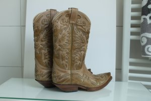 Sendra Boots Cowboy Stiefel Westernstiefeln Leder komplett neu 39 NP 299
