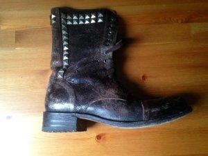 Sendra Boots im Used look - Braun mit Nieten - Gr. 41