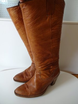 Sendra Western Boots brown-cognac-coloured leather