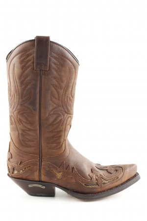 Sendra Western Boots brown casual look