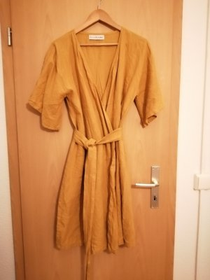 Robe portefeuille multicolore lin
