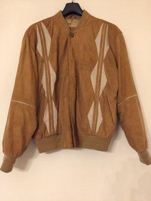 senffarbene Jacke aus Wildleder