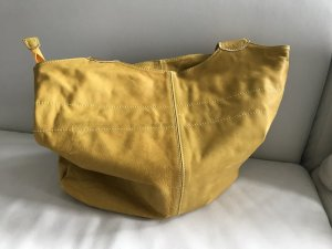Made in Italy Carry Bag dark yellow-sand brown leather