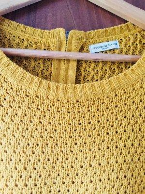 Senffarbener Pullover für den Frühling in Gr. M