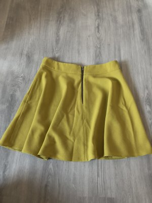 Atmosphere Falda asimétrica amarillo limón-marrón arena