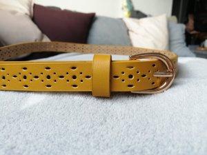 H&M Cinturón de cadera naranja dorado