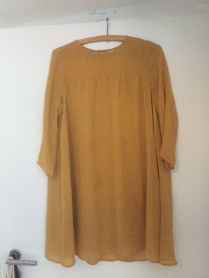 Senfgelbes Hängerkleid/Blusenkleid von H&M Größe 38