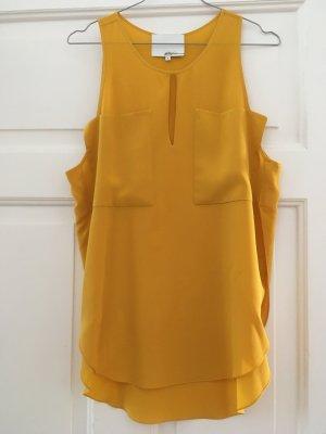 3.1 Phillip Lim Mouwloze blouse goud Oranje-donkergeel