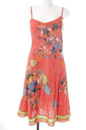 Sensation Pour Elle Vestido tipo overol rojo estampado floral Estilo playero