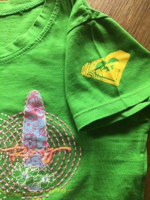 Sensationelles T-Shirt von der Surfer Brand ROXY, grasgrün, Hingucker Print!