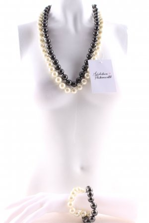 Sensi di Oro Pearl Necklace grey-natural white elegant