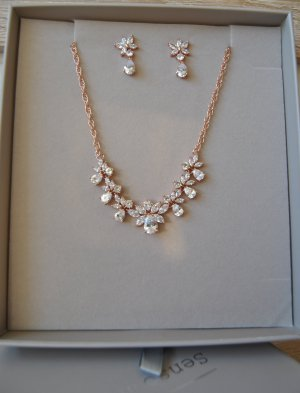 Bijou Brigitte Gouden ketting roségoud-zilver