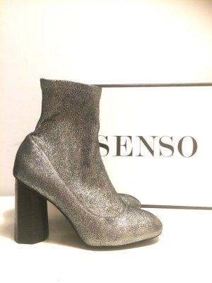 Senso Umar II Silver Stardust Stretch Sock Boots STIEFELETTEN Echtleder selten