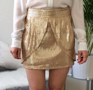 Sequin Skirt ZARA gold S 36 Paillettenrock