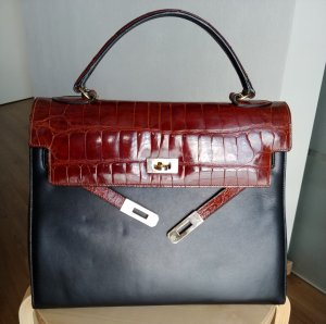 Serapian Kelly leather handbag