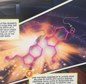 Seratonin (Happiness Molecule) Ohrring