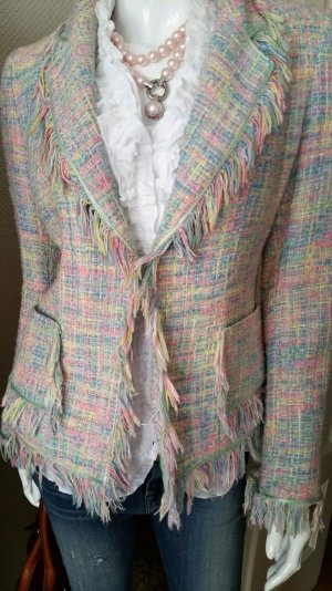 SERENA KAY Paris Designer M/38 Blazer Boucle Franzen Jacke Blazer UVP 410,00 €