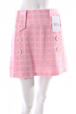 Serena Kay Wool Skirt pink-white classic style